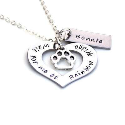 Rainbow Bridge Memorial, Loss of a Pet, Pet Memory, Personalised Pet Memorial