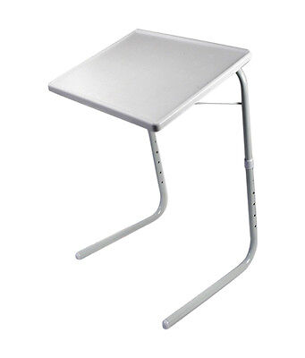 Seconds White TableMate II Smart Dinner Tray Foldable Adjustable Table Mate 2