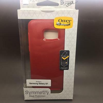 New Genuine OtterBox Symmetry Series Case for Samsung Galaxy S7 - Dark Red