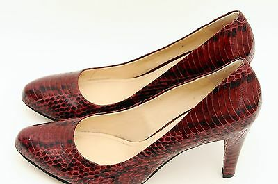 f66b810cf926 Vince Camuto Women s Red Leather Sexy Stiletto High Heels Pumps Size 7.5 M  EUC