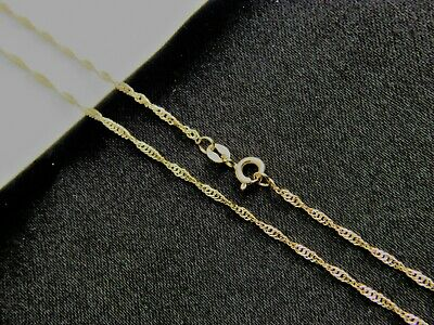 Real 10k YELLOW GOLD ROPE CHAIN1.5mm NECKLACE Solid 10KT GOLD CHAIN