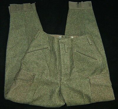 New Old Stock 100% Wool SWEDISH ARMY Pants WWII Military Circa 1940s A.C.B.