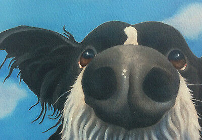 border collie painting fine art giclee print by artist Lizzie Hall