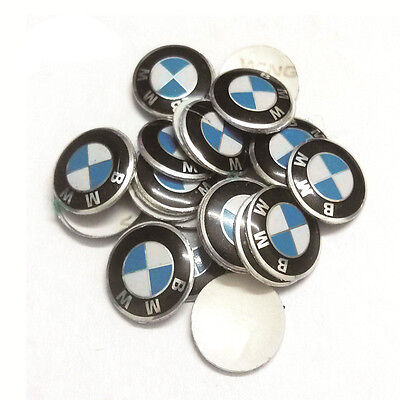 REMOTE KEY FOB KEYLESS ENTRY EMBLEM STICKER REPLACEMENT FOR BMW WITH 11mm