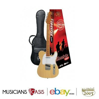 New Essex TL Electric Guitar + Gig Bag – Butterscotch Blonde $249.00