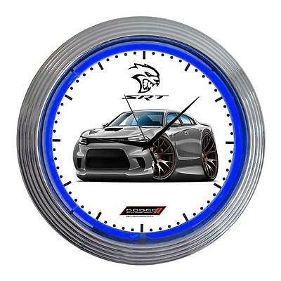 Dodge Charger SRT Hellcat Muscle Car Classic Neon Clock NEW