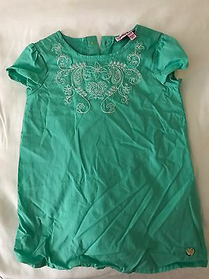Juicy Couture Baby Girls Green  Flower Dress 6-12 Months Pre Owned