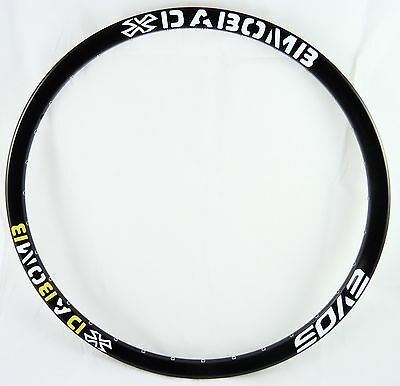 Da Bomb EVO9  MTB DH Enduro Bike Rim 32H - 26 Inch Mountain Bike Rim - Black