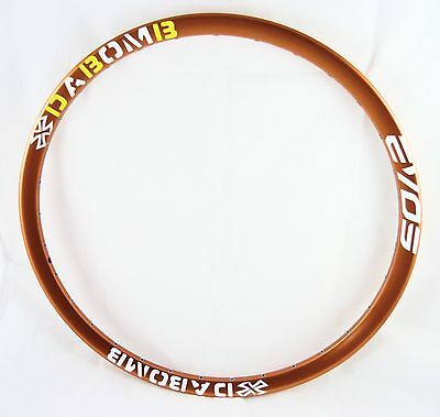 Da Bomb EVO9  MTB DH Enduro Bike Rim 32H - 26 Inch Mountain Bike Rim - Orange