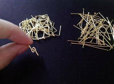 100pcs Gold Strait & m Twisted Connector Parts-  for Chandelier Crystals Prisms