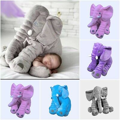 Cute Baby Kids Long Nose Elephant Doll Lumbar Pillow Soft Plush Stuff Toy US
