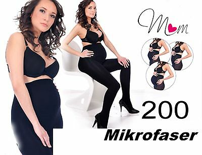 THICK 200 DEN Microfibre Maternity STOCKINGS S-XXL maternity Tights