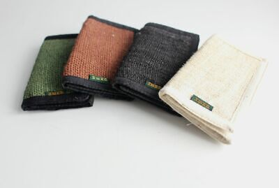 Three Fold Hemp Wallets in Black, Brown and Green Color