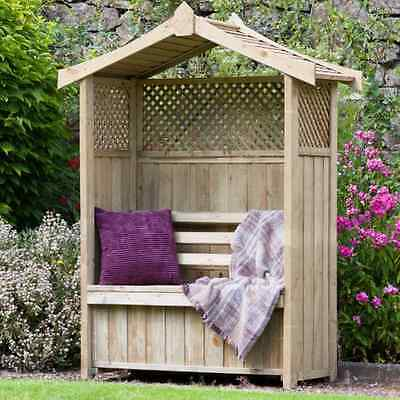 Arbour Outdoor Garden Furniture - Innovative Arch Bench 2 Seat With Storage Box