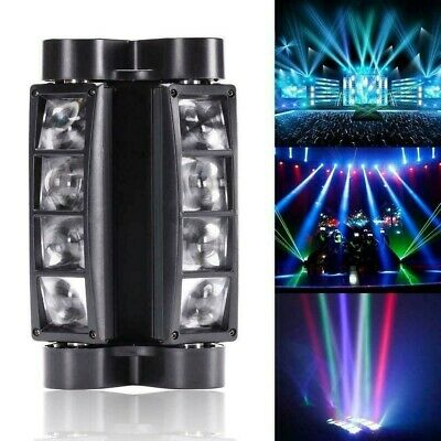 Barra Led Testa Mobile 8X3W Spider Moving Rgbw Dmx Stage Disco Dj Lighting