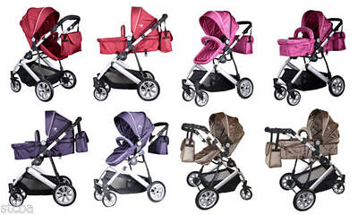 foldable 2-in-1 stroller ( buggy / pushchair ) & carrycot (pram) + bag, BIG SALE