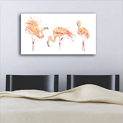 40×70×3cm Watercolor Flamingo Canvas Prints Framed Wall Art Home Decor Painting