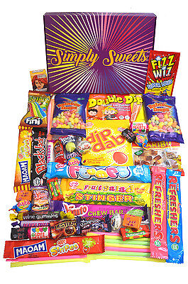 Simply Sweets retro sweet hamper gift box. Packed with 48 retro sweets.