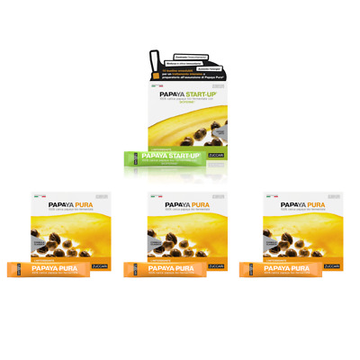 ZUCCARI LINEA PAPAYA - 3x PAPAYA PURA 45 stick + 1x PAPAYA START-UP 10 stick