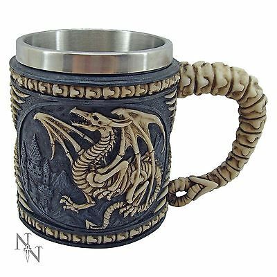 Dragon Skeleton Tankard 10.5cm High Mug Nemesis Now Gothic
