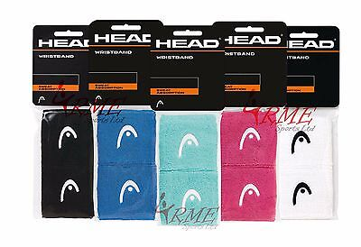 Head  Wristband 2.5inch - 2 Pack (Available in Black,White,Blue,Pink or Opal)