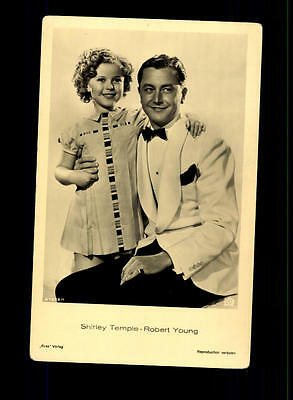 Shirley Temple und Robert Young  Ross Verlag Postkarte ## BC 78933