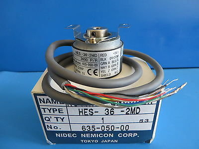 Nidec HES-36-2MD Rotary Encoder - Resolution 3600 P/R Current 150mA 635-050-00