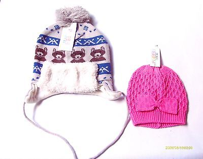 Baby Boy And  Girl Knitted Winter Hats Assorted Designs