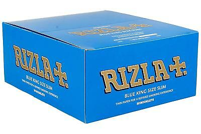 Rizla King Size Slim Tobacco Rolling Papers Blue - FULL BOX of 50 BOOKLETS