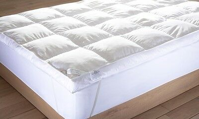 "LUXURY 5"" Extra Deep Fill Luxurious 100% Goose Feather Mattress Topper Enhancer"
