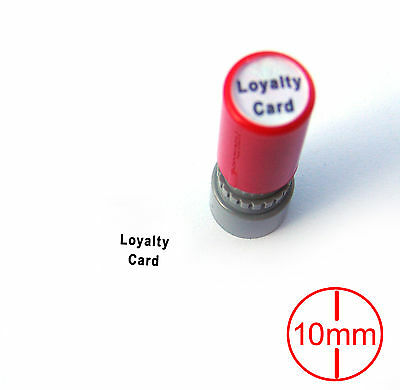 5mm / 10mm Custom Business Logo Name Reward Loyalty Card Flash Stamp Self Inking