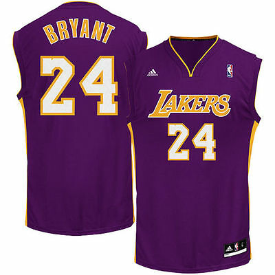 NBA Los Angeles Lakers Purple Replica Men`s Jersey Kobe Bryant #24
