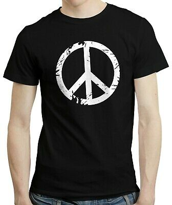 Peace Sign - Retro Style Hippie Symbol Gift Clothing 60s 70s T-shirt Tshirt Tee