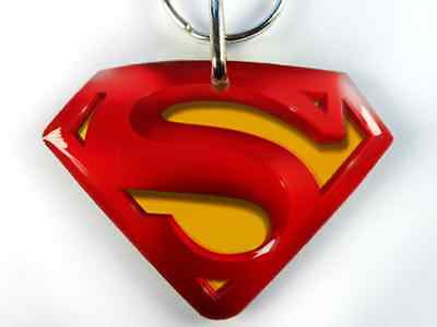 "Superman Custom Double Side Large 2.00"" x 1.50"" Pet ID Tags cat dog tag"