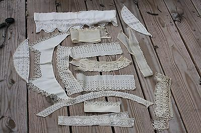 Lot Antique Lace and Dress Collars 14 pieces