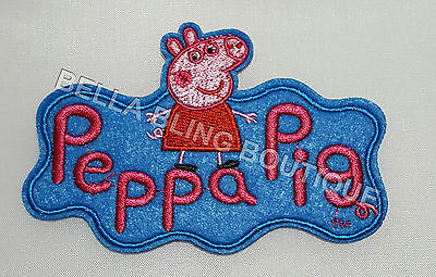 1 Girls Peppa Pig 10 X 6.8 Cm Iron On Sew On Patch Girls Clothes Craft