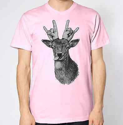 Deer New T-Shirt Art Wild Animal Abstract Graphic Punk Swag Top Hipster Rock