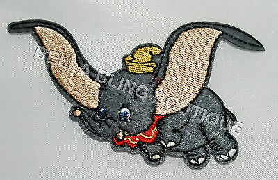 1 Boys Dumbo Elephant Kids Iron On Sew On Patch Girls Clothes Craft Bag