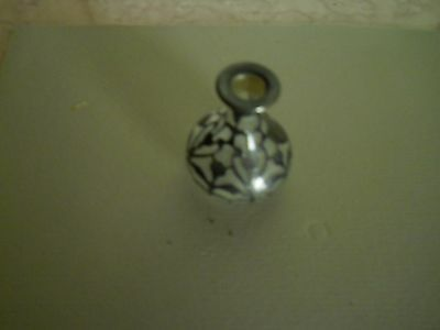 """Vintage Marked Sterling Covered Glass Bottle 2 3/4"""" Tall"""