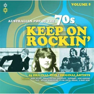 AUSTRALIAN POP OF THE 70s KEEP ON ROCKIN'  VOLUME 5 VARIOUS ARTISTS 2 CD NEW