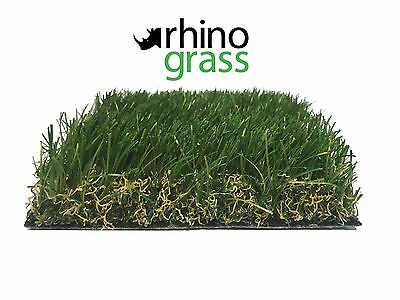 RHINO GRASS Synthetic Grass Natural Look 40mm Fake Artificial Lawn Turf