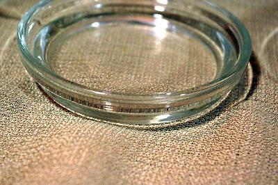 Clear Glass Set of 4 Coasters