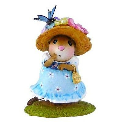 PETIT PAPILLON by Wee Forest Folk, WFF# M-503, Blue Girl w/butterfly