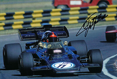 Emerson Fittipaldi autographed Signed 8X12 John Player Lotus F1 Photo with Proof