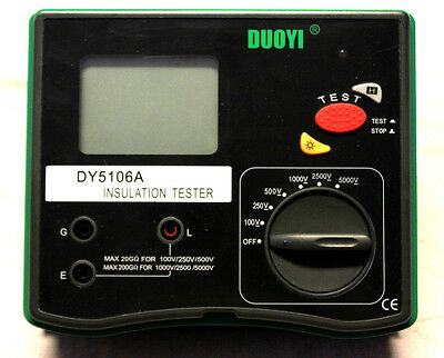 Sale!!Digital 5000V Multi-range Insulation Resistance Tester Megohmmeter DY5106A