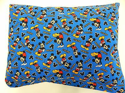 Child Toddler Cot Pillowcase - Mickey Mouse - Classic Blue - 100% Cotton