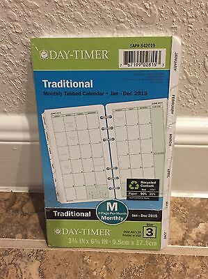 Day-Timer Planner Refill 2017 Size 3 Jan Dec Monthly Traditional White New