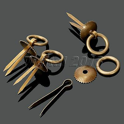 Retro Antique Copper Ring Pull Handle For Furniture Hardware Drawer Door 4Pcs