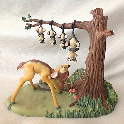 Disney Story Book Bambi GOOD MORNING YOUNG PRINCE Figurine Statue