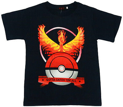 NEW Sz 8-14 POKEMON GO BOYS SUMMER BIRTHDAY CHRISMASTGIFT BLACK T-SHIRT TOP TEE